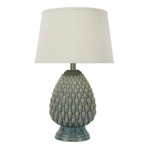 Ashley Signature Design Lamps - Vintage Style Saidee - Teal Ceramic Table Lamp