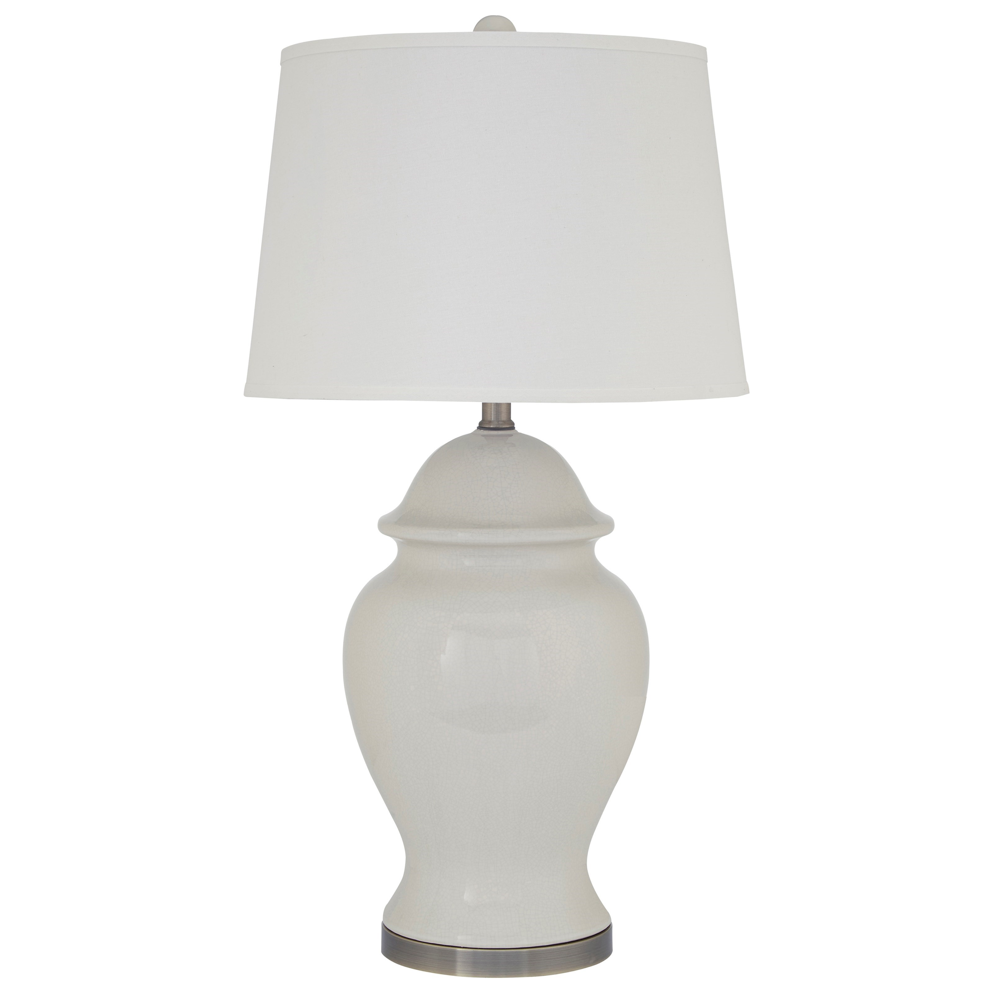 Signature Design by Ashley Lamps - Vintage Style Darena Ceramic Table Lamp - Item Number: L100484