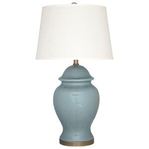 Signature Design By Ashley Lamps   Vintage Style Darena Blue Ceramic Table  Lamp