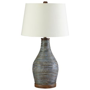 Signature Design by Ashley Lamps - Vintage Style Jehan Antique Green Terracotta Table Lamp