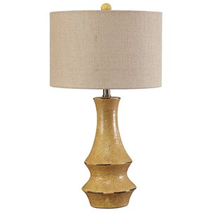 Jenci Antique Yellow Table Lamp