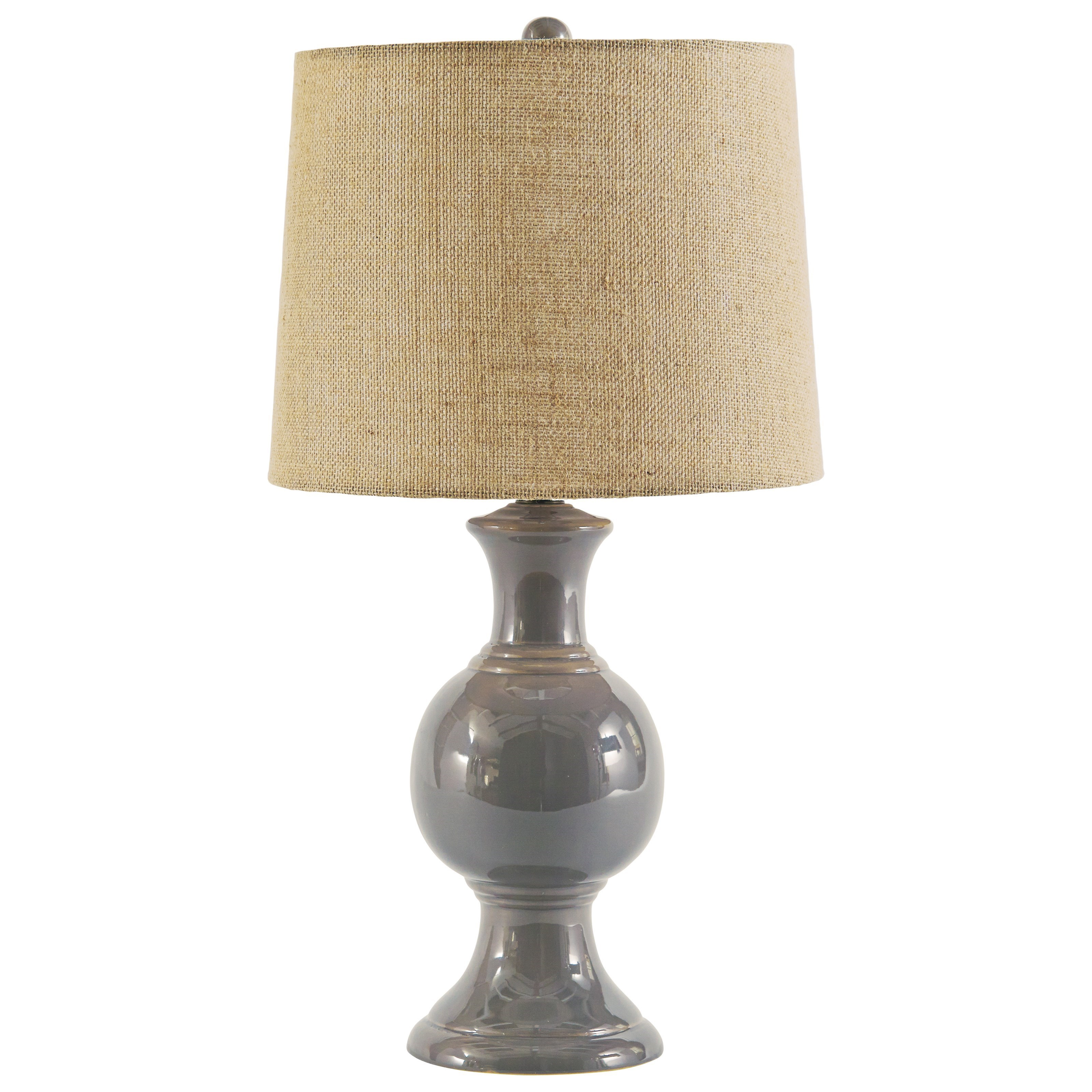 Magdalia Gray Ceramic Table Lamp