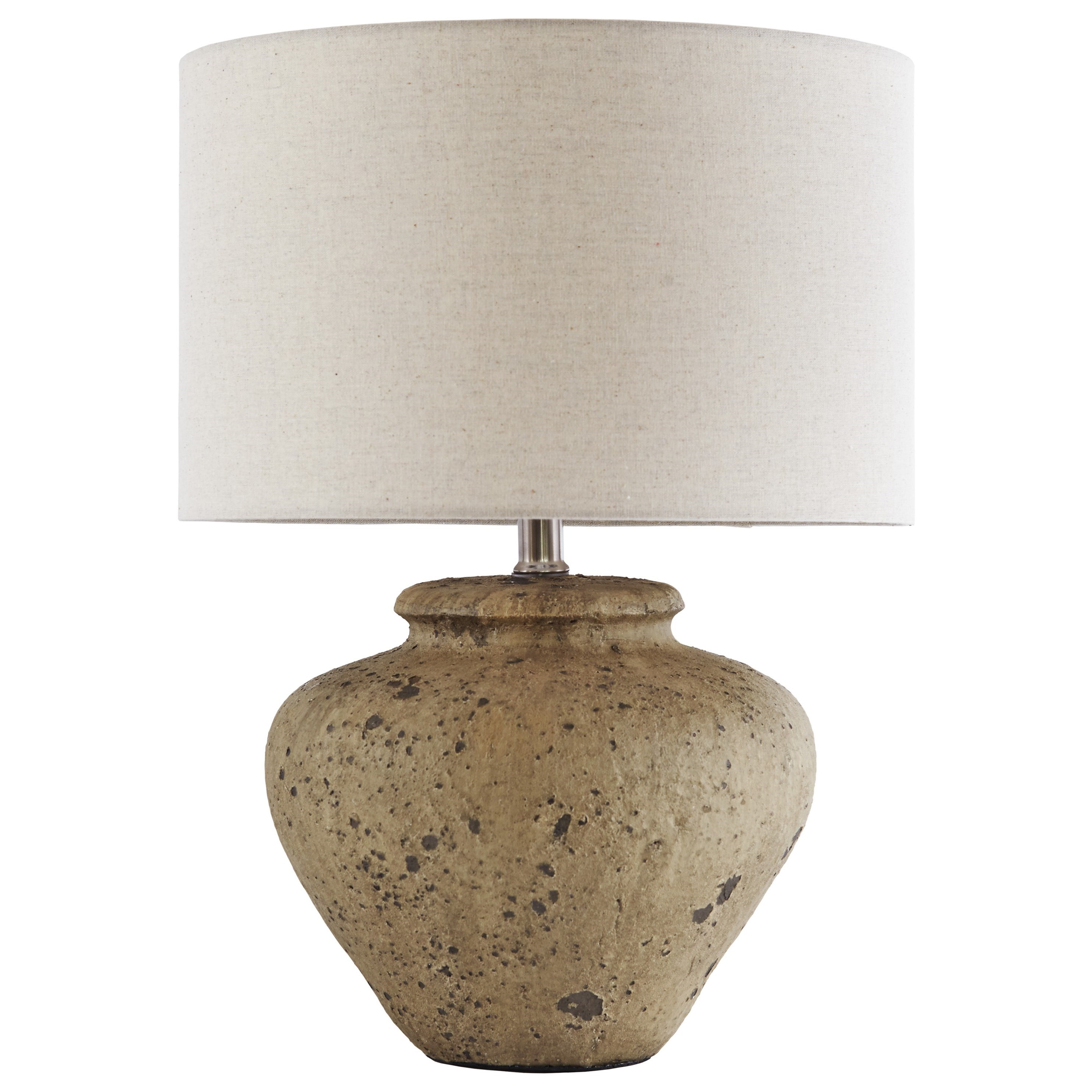 Signature Design by Ashley Lamps - Vintage Style Mahfuz Beige Ceramic Table Lamp - Item Number: L100654
