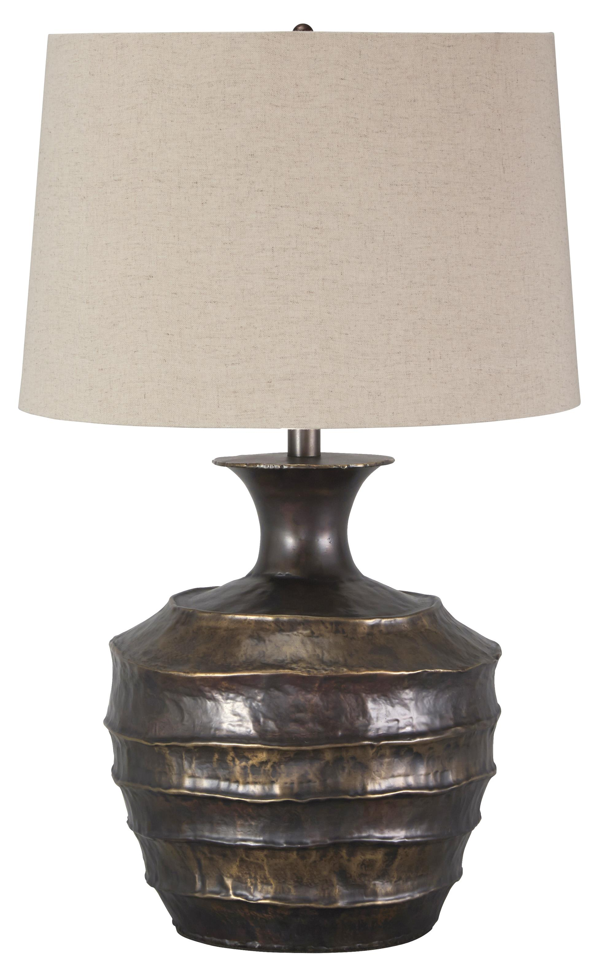 Signature Design by Ashley Lamps - Vintage Style Kymani Metal Table Lamp - Item Number: L207004