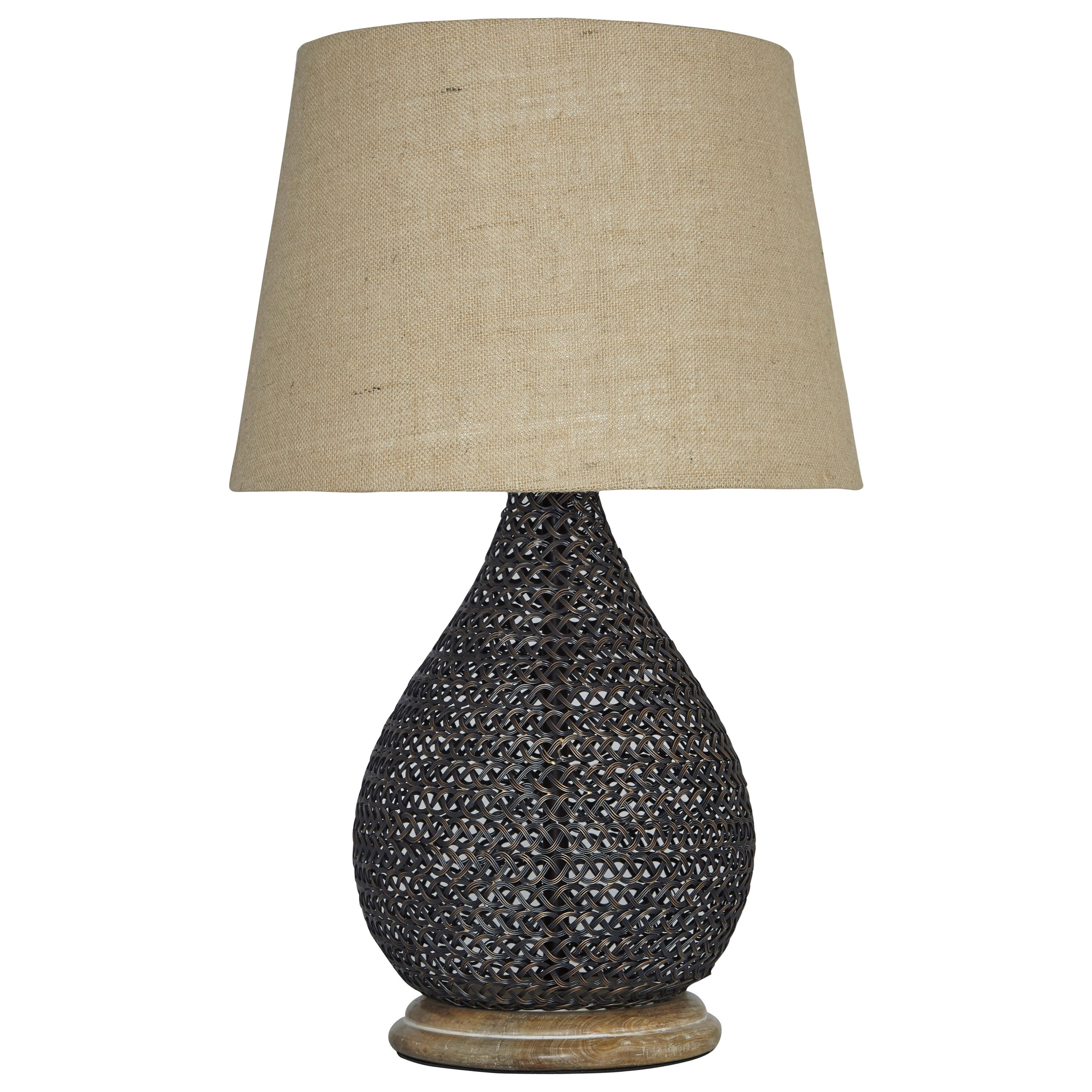 Signature Design by Ashley Lamps - Vintage Style Aimon Bronze Finish Table Lamp - Item Number: L207064