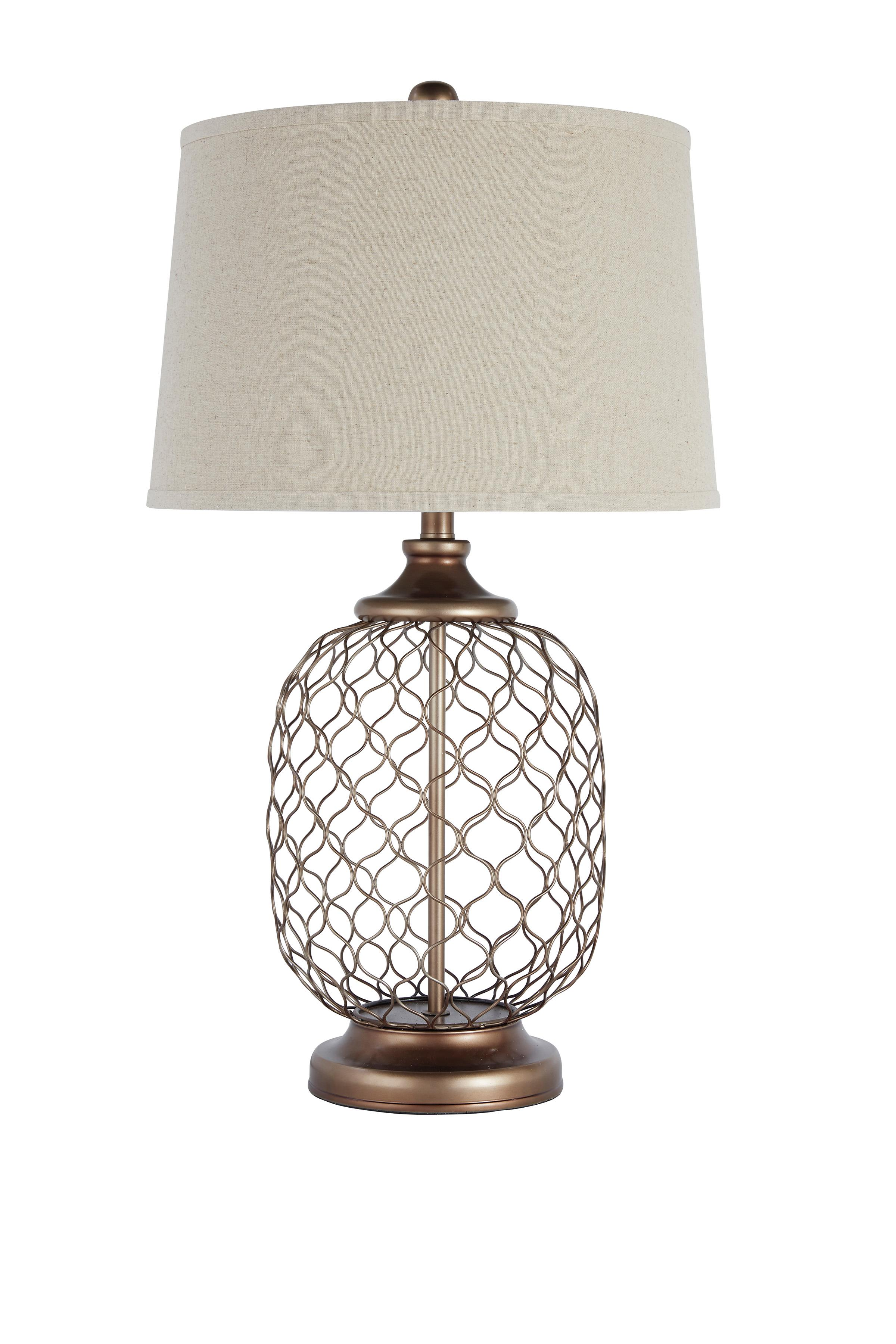 Signature Design by Ashley Lamps - Vintage Style Metal Table Lamp  - Item Number: L207824