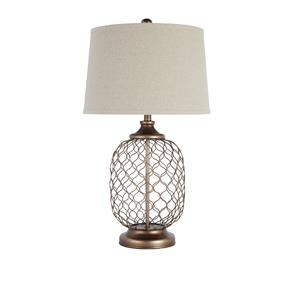 Ashley Signature Design Lamps - Vintage Style Metal Table Lamp