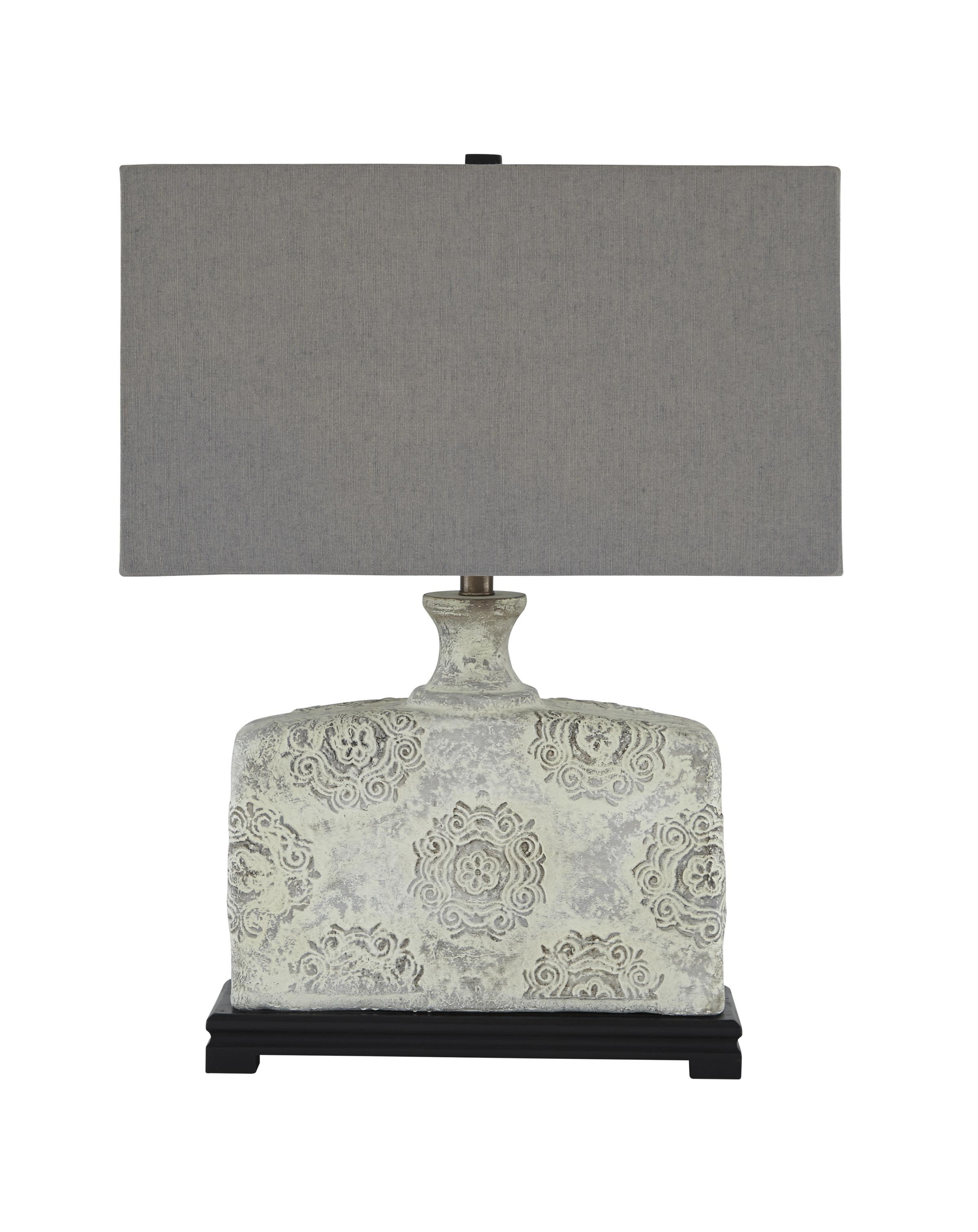 Signature Design by Ashley Lamps - Vintage Style Shiko Antique White Table Lamp - Item Number: L235464