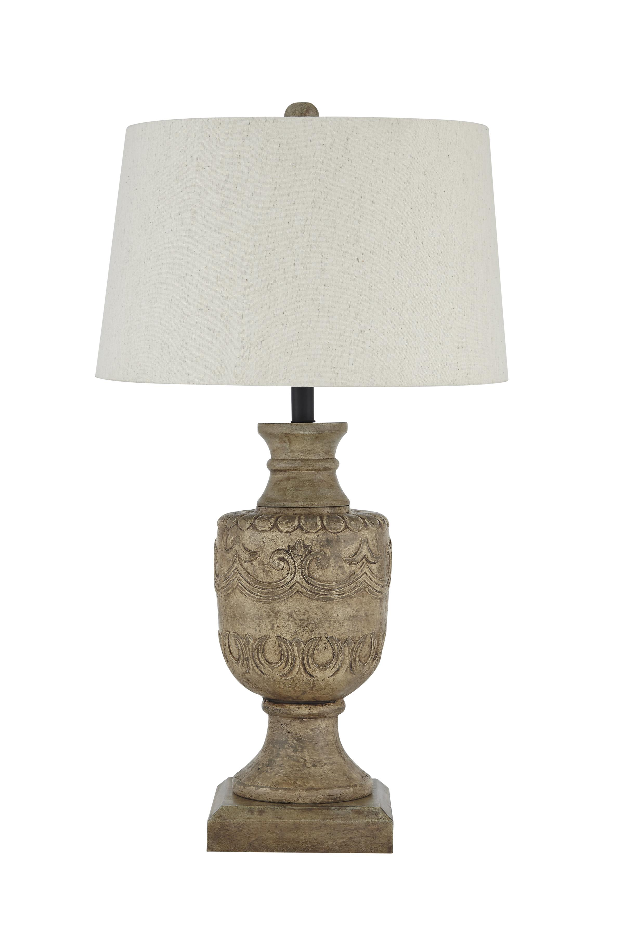Signature Design by Ashley Lamps - Vintage Style Shobana Natural Table Lamp - Item Number: L235474