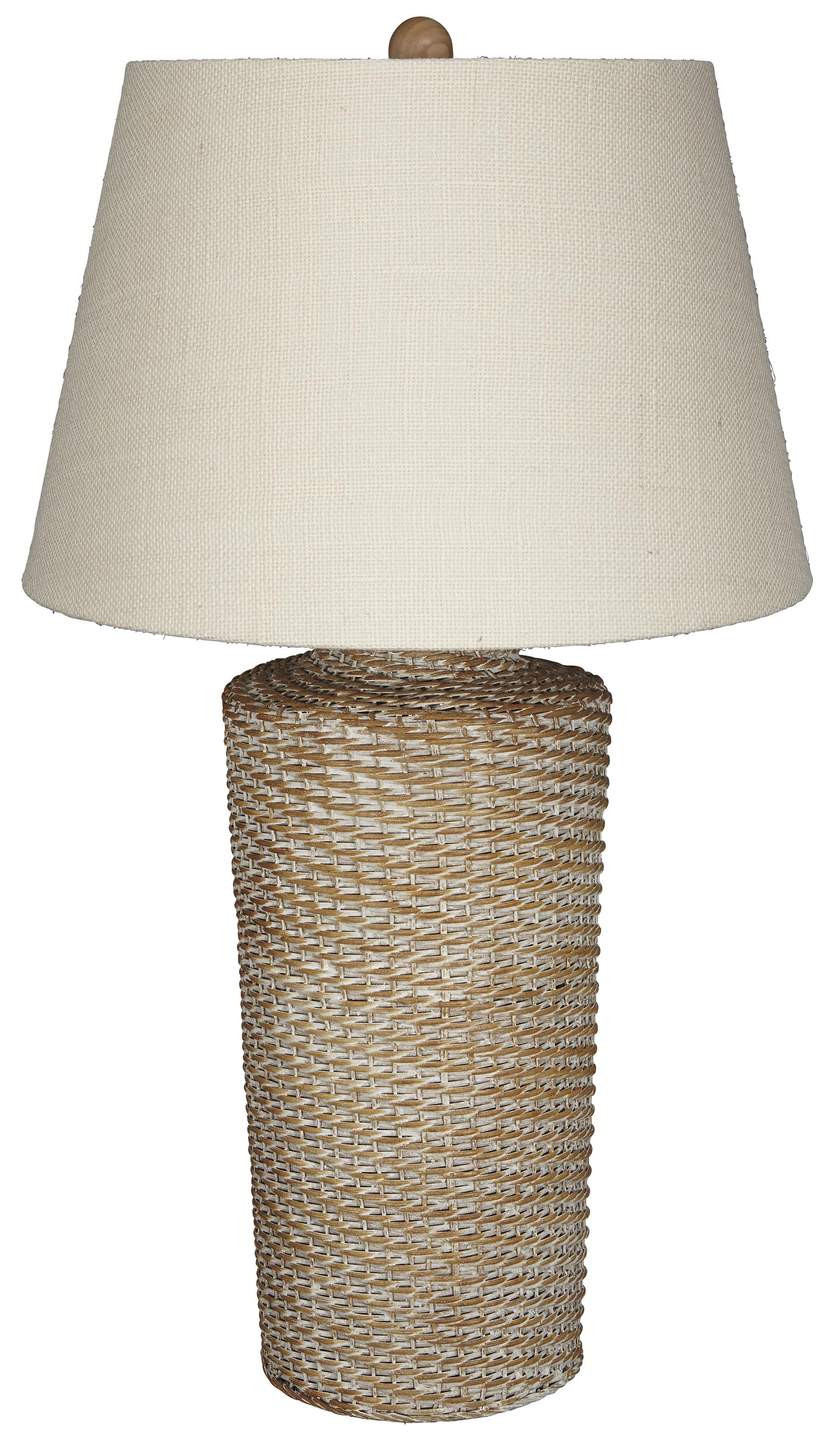 Signature Design by Ashley Lamps - Vintage Style Stefenney Rattan Table Lamp - Item Number: L327154