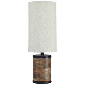 Signature Design by Ashley Lamps - Vintage Style Ian Natural Wood Table Lamp