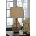 Signature Design by Ashley Lamps - Vintage Style Set of 2 Erwin Rattan Table Lamps