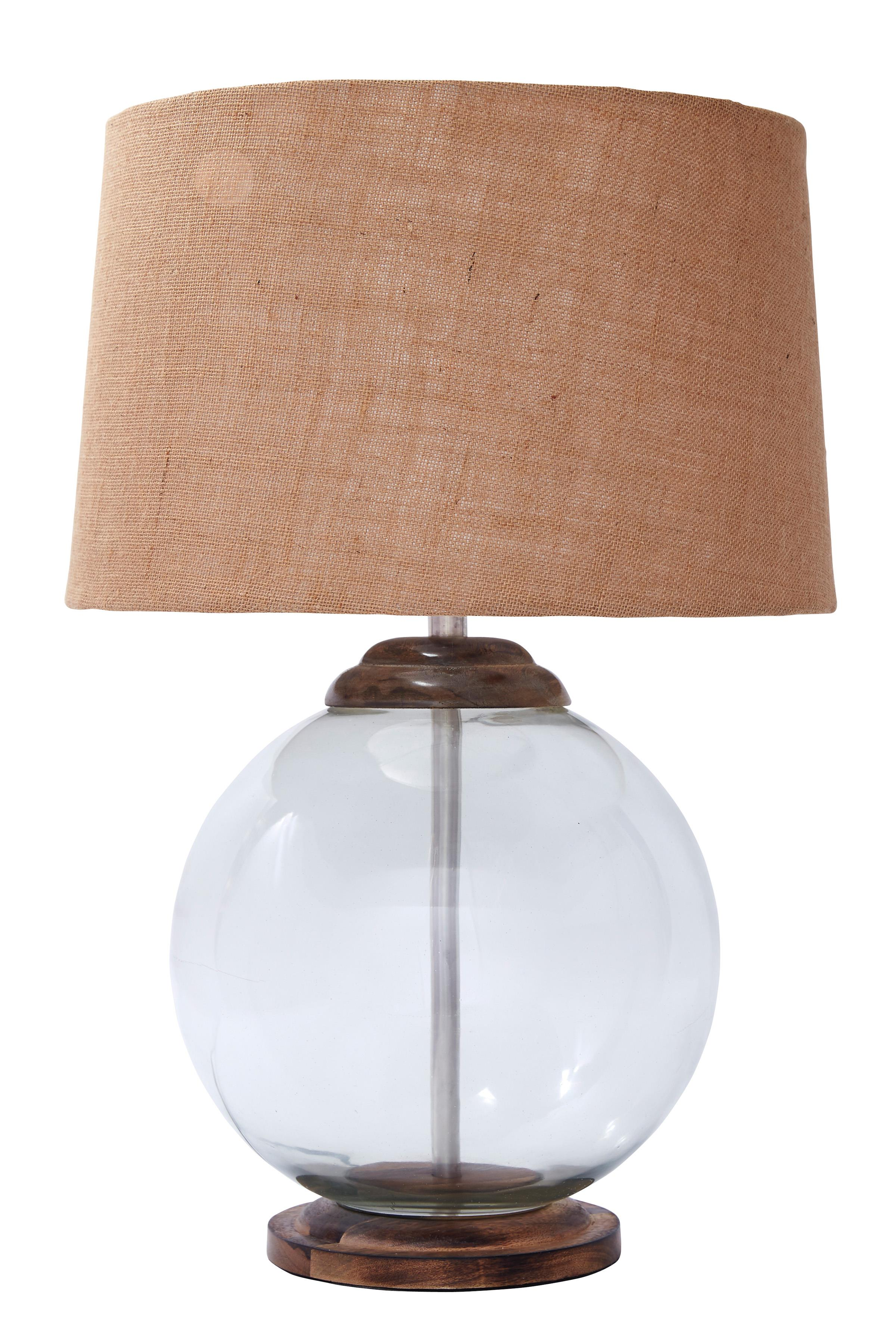 Signature Design by Ashley Lamps - Vintage Style Shandel Transparent Glass Table Lamp - Item Number: L430004