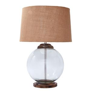 Signature Design by Ashley Lamps - Vintage Style Shandel Transparent Glass Table Lamp