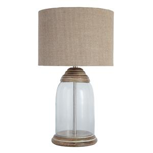 Signature Design by Ashley Lamps - Vintage Style Shanece Transparent Glass Table Lamp