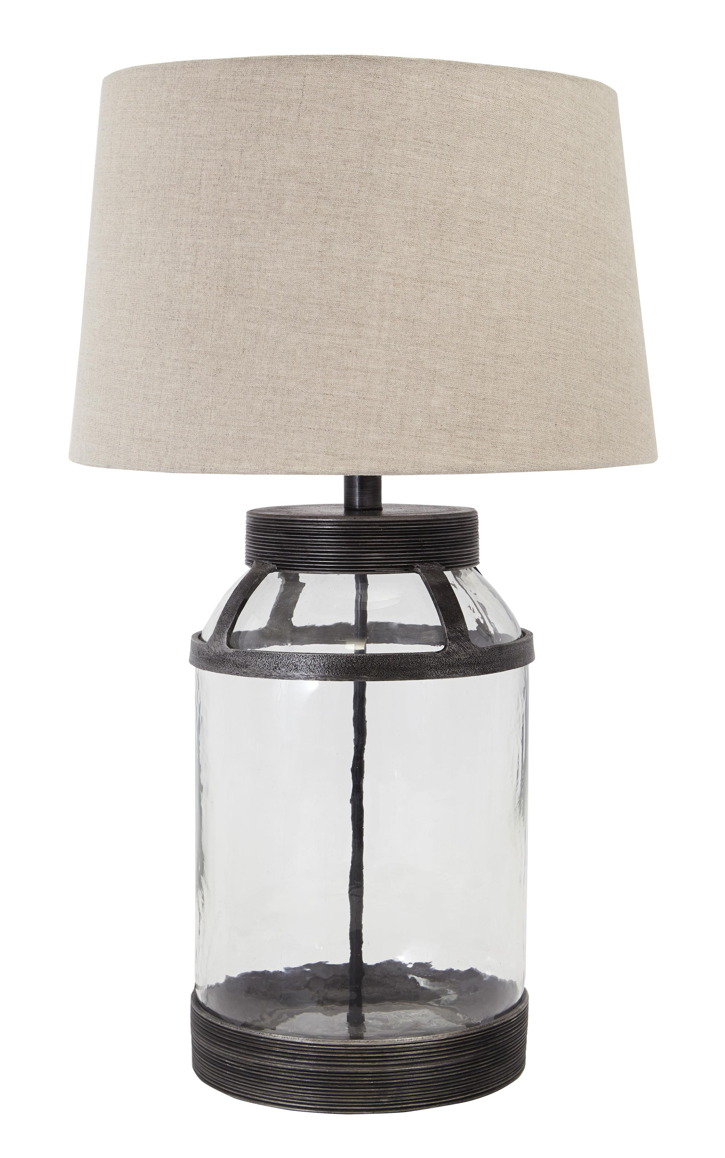 Signature Design by Ashley Lamps - Vintage Style Shanika Transparent Glass Table Lamp - Item Number: L430034