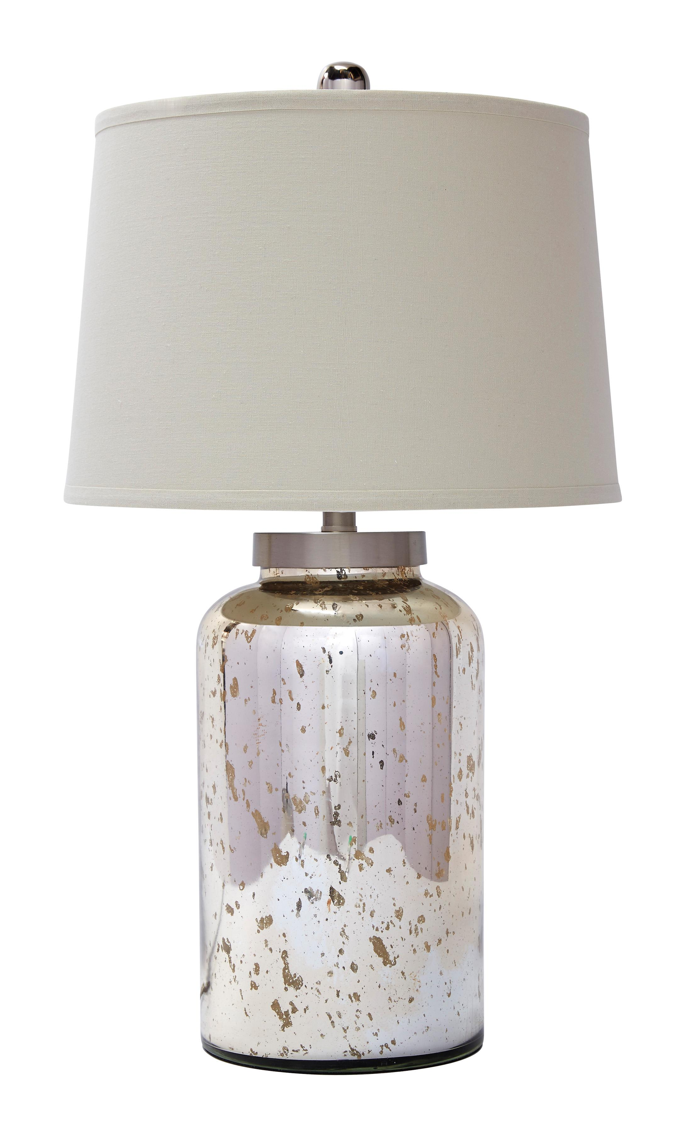 Signature Design by Ashley Lamps - Vintage Style Glass Table Lamp  - Item Number: L430054