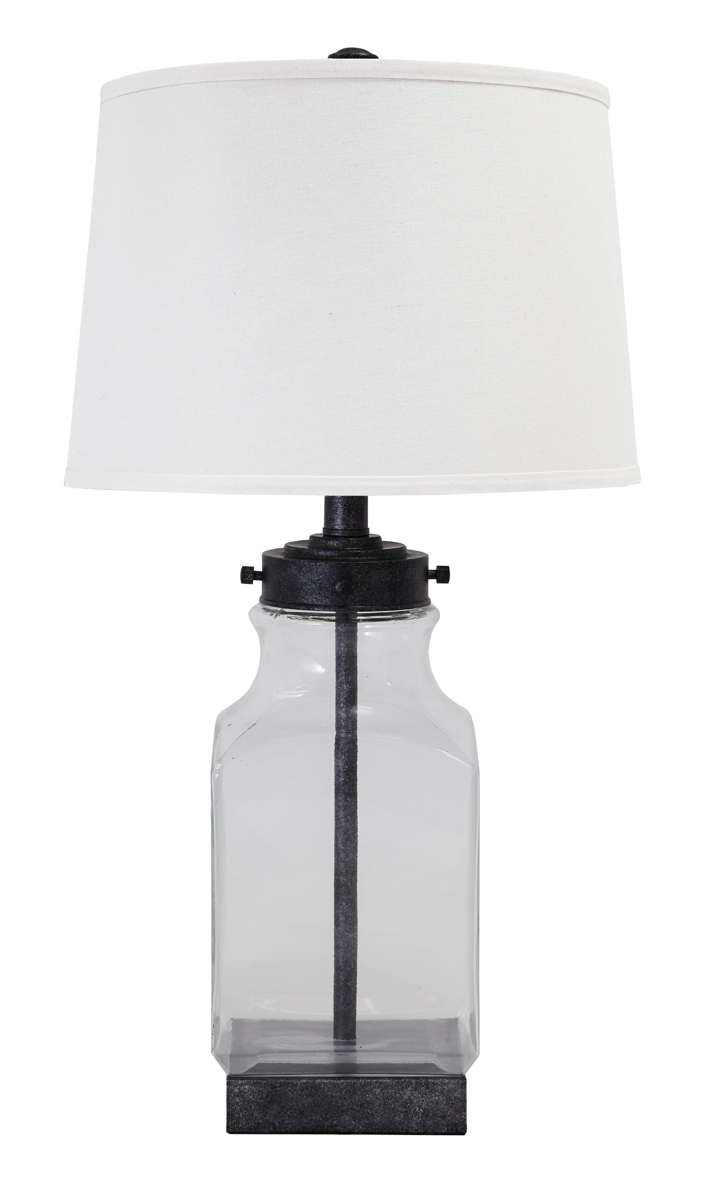 Signature Design by Ashley Lamps - Vintage Style Glass Table Lamp  - Item Number: L430144