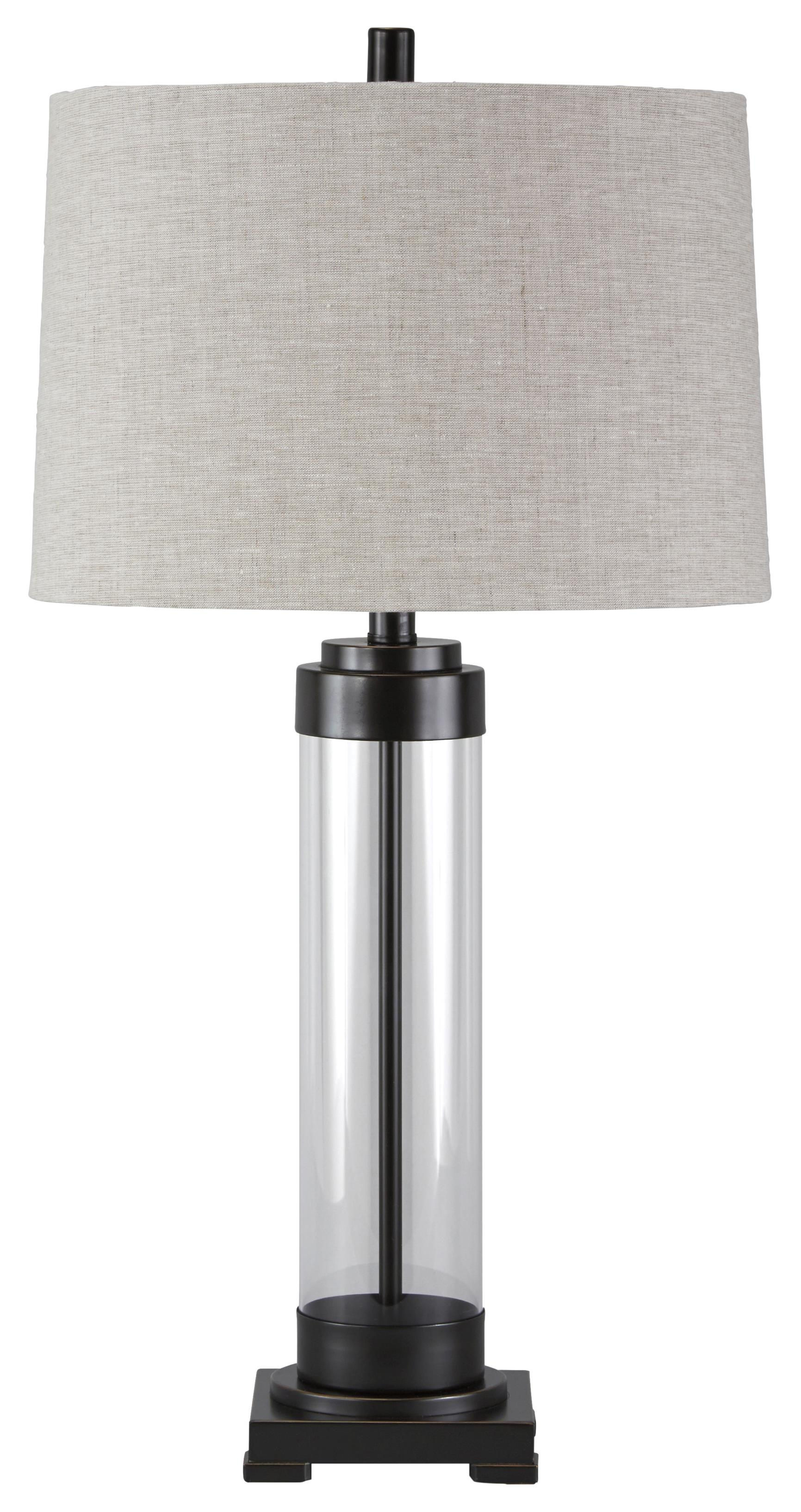Signature Design by Ashley Lamps - Vintage Style Talar Glass Table Lamp - Item Number: L430164