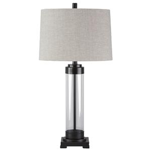 Ashley Signature Design Lamps - Vintage Style Talar Glass Table Lamp