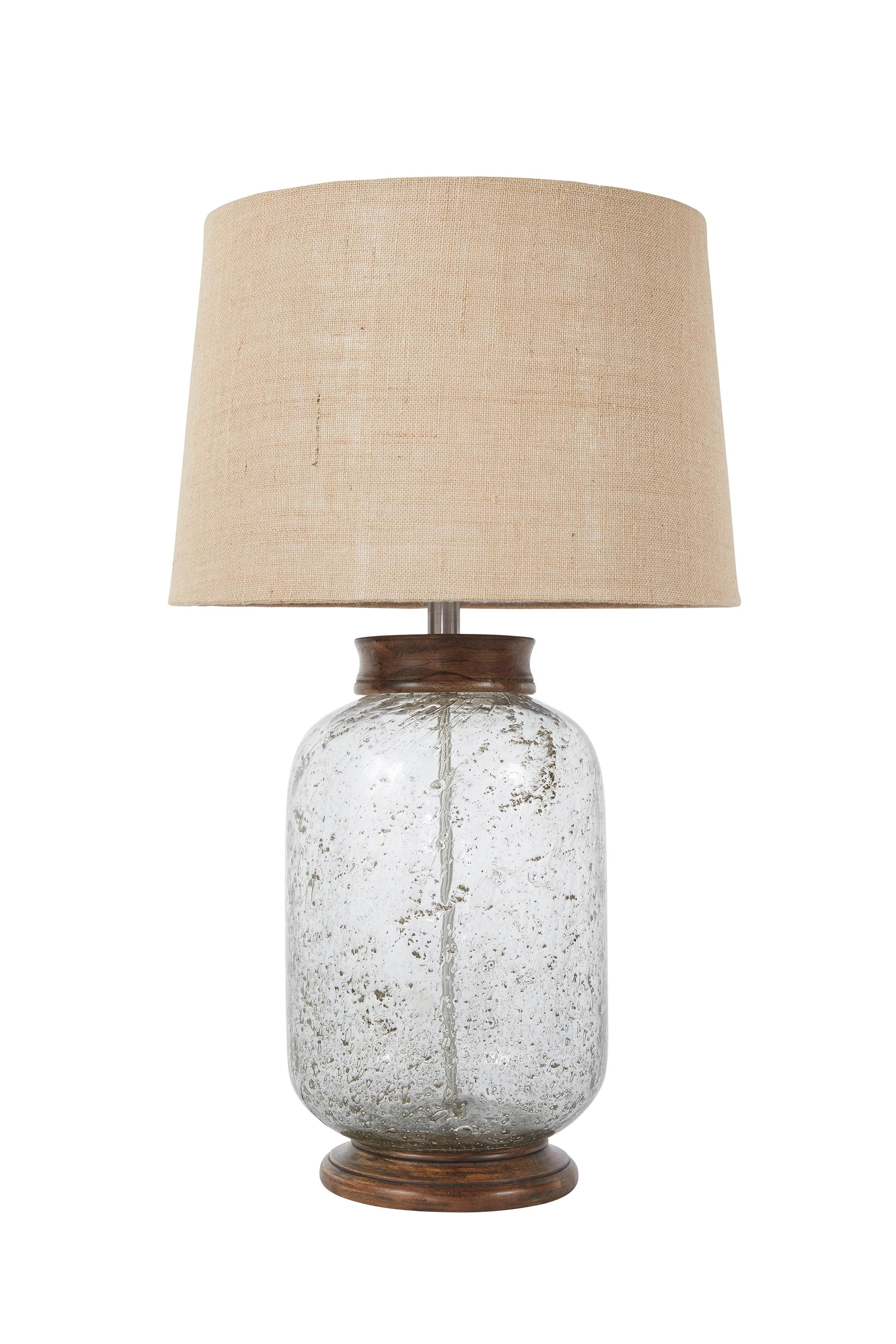 Signature Design by Ashley Lamps - Vintage Style Shaunette Seeded Glass Table Lamp - Item Number: L430204