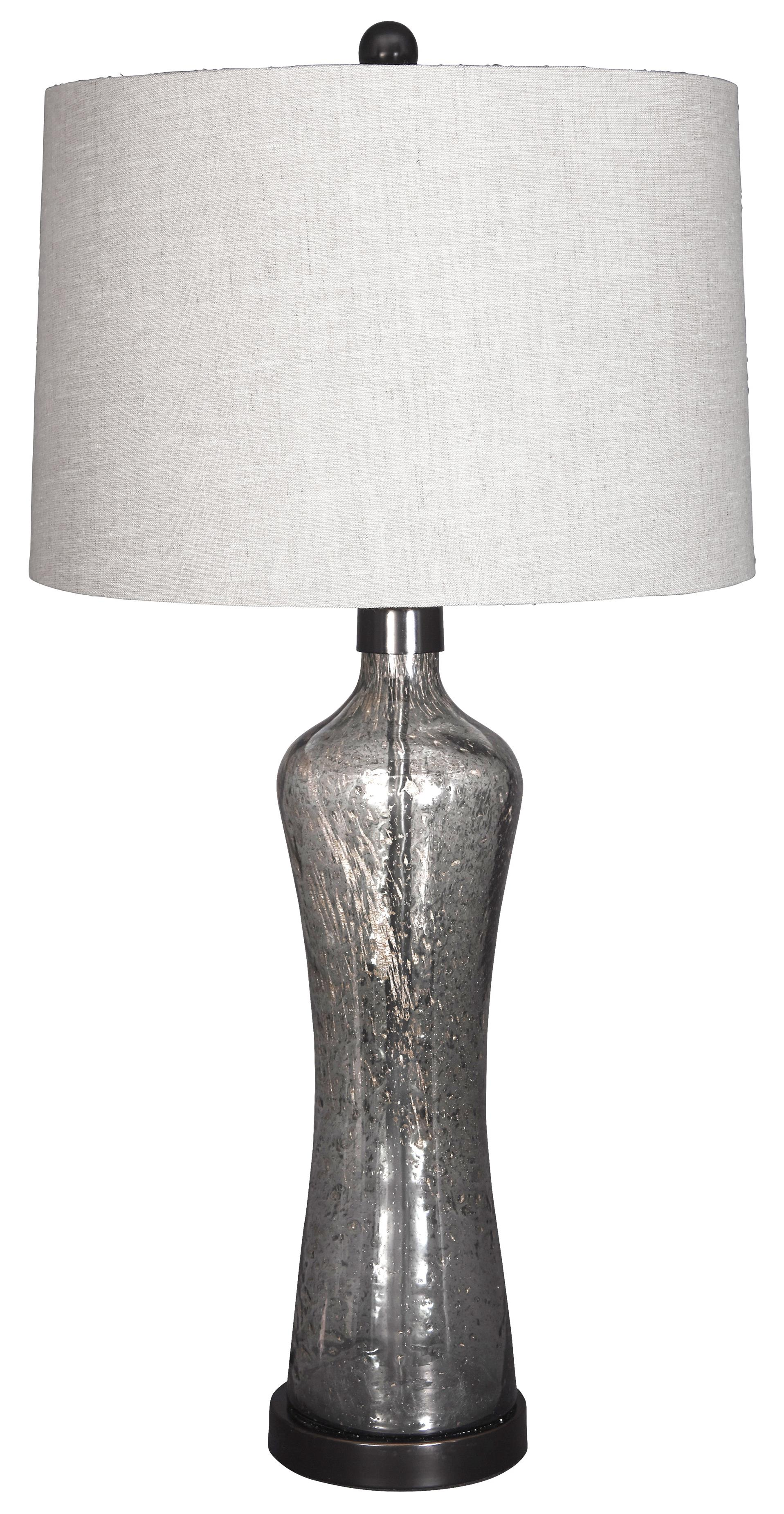 Signature Design by Ashley Lamps - Vintage Style Sharrona Glass Table Lamp - Item Number: L430214