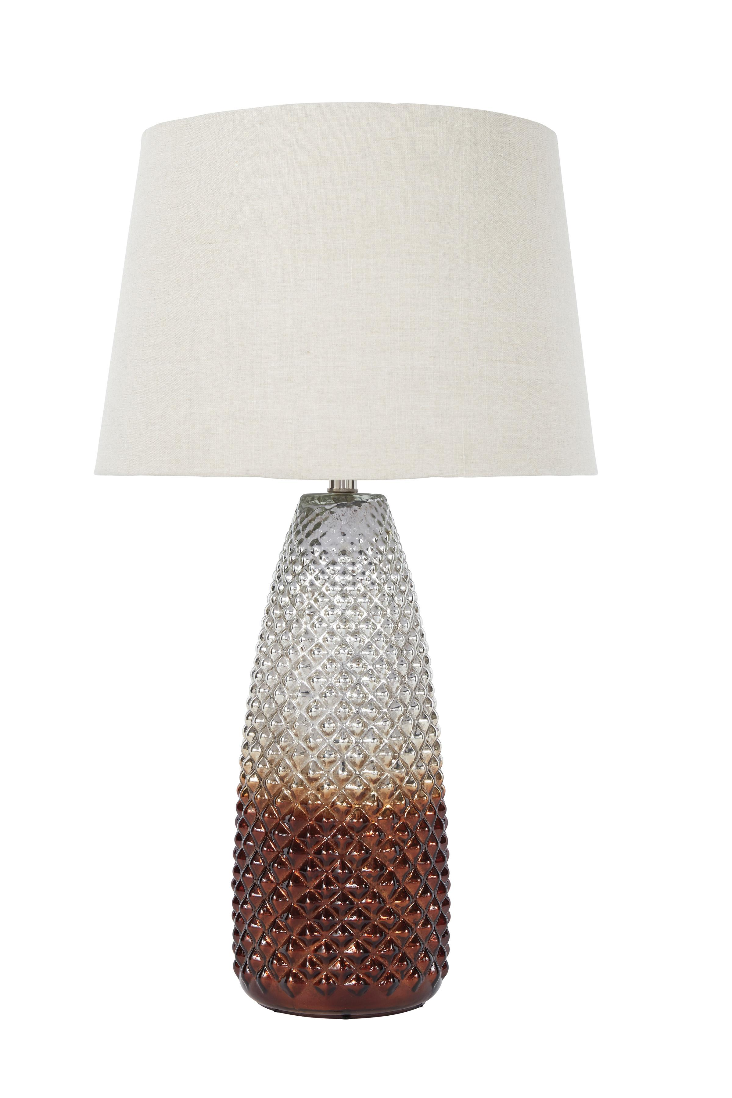 Signature Design by Ashley Lamps - Vintage Style Shavondra Mercury Glass Table Lamp - Item Number: L430234
