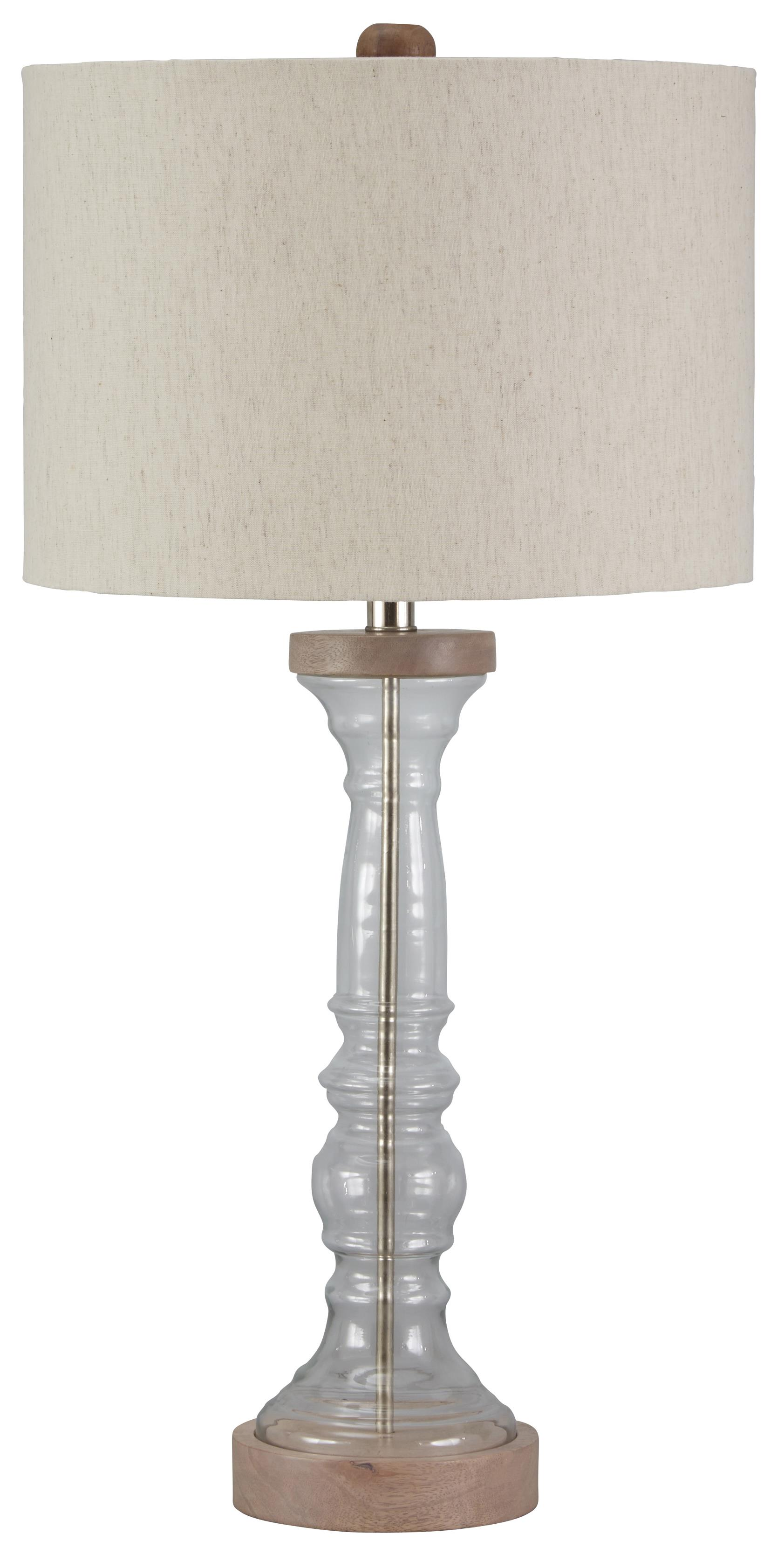 Signature Design by Ashley Lamps - Vintage Style Tad Glass Table Lamp - Item Number: L430254