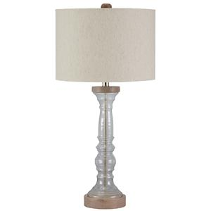 Signature Design by Ashley Lamps - Vintage Style Tad Glass Table Lamp