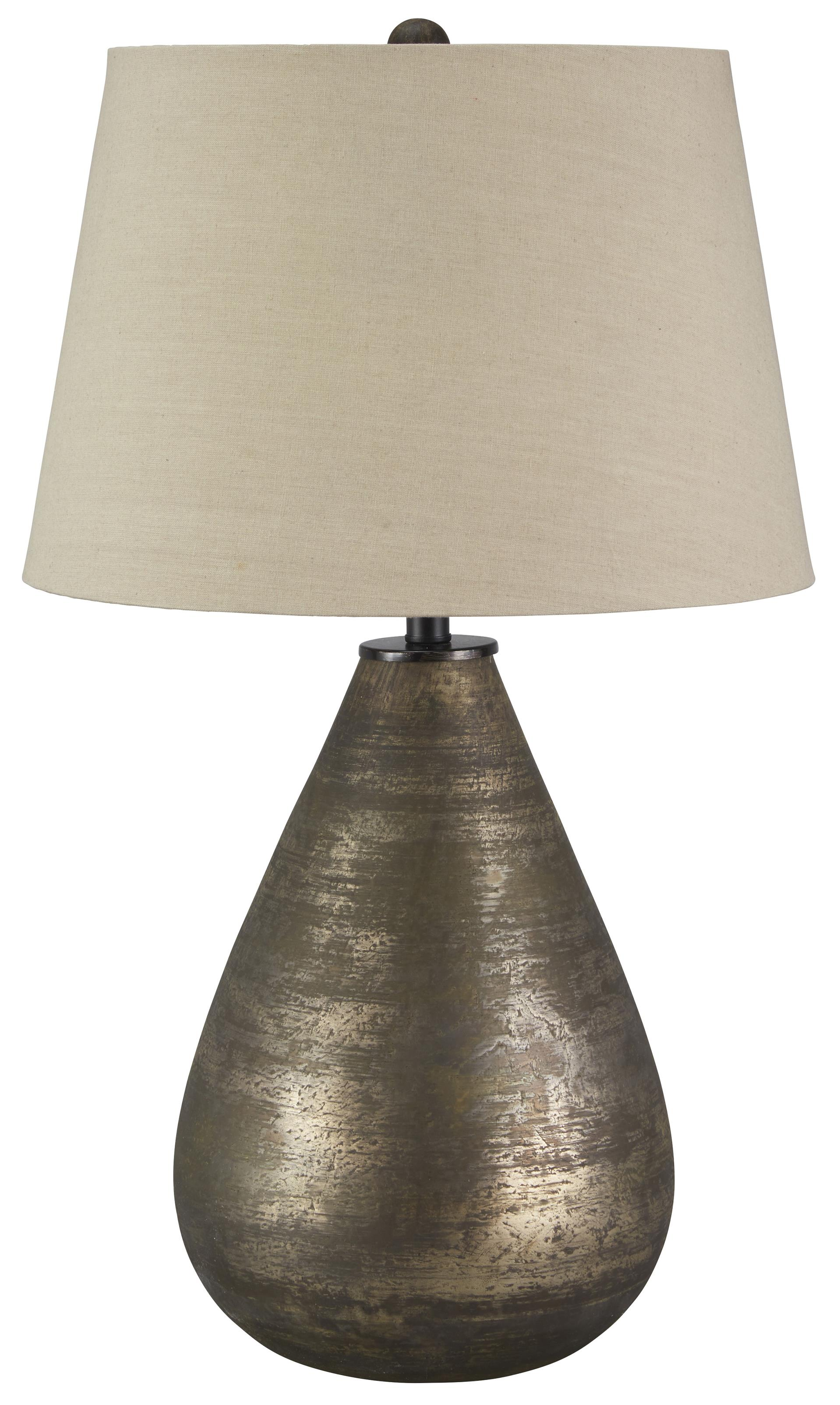 Signature Design by Ashley Lamps - Vintage Style Tabler Glass Table Lamp - Item Number: L430274
