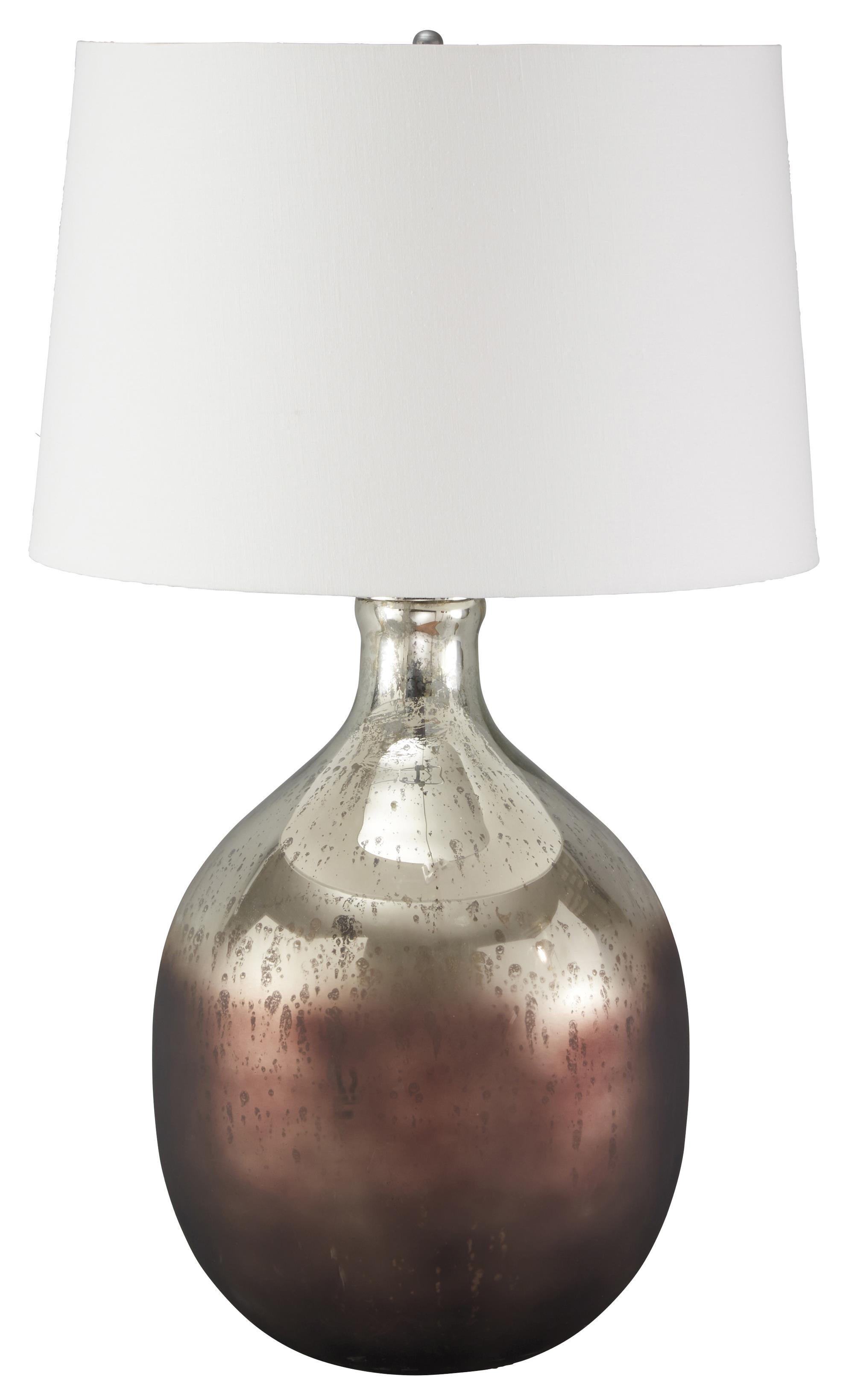 Signature Design by Ashley Lamps - Vintage Style Tabish Glass Table Lamp - Item Number: L430294