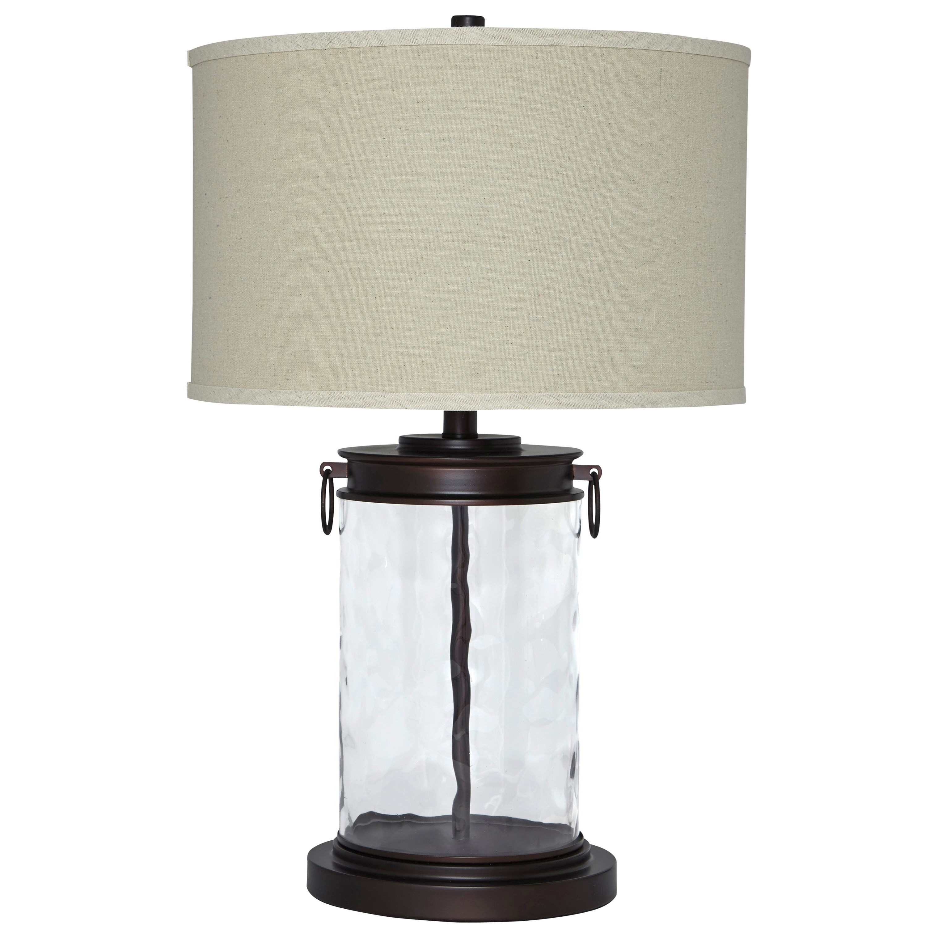 Lamps - Vintage Style Tailynn Clear/Bronze Finish Glass Table Lamp by Signature at Walker's Furniture