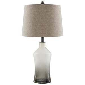 Trendz Lamps - Vintage Style Set of 2 Nollie Gray Glass Table Lamps