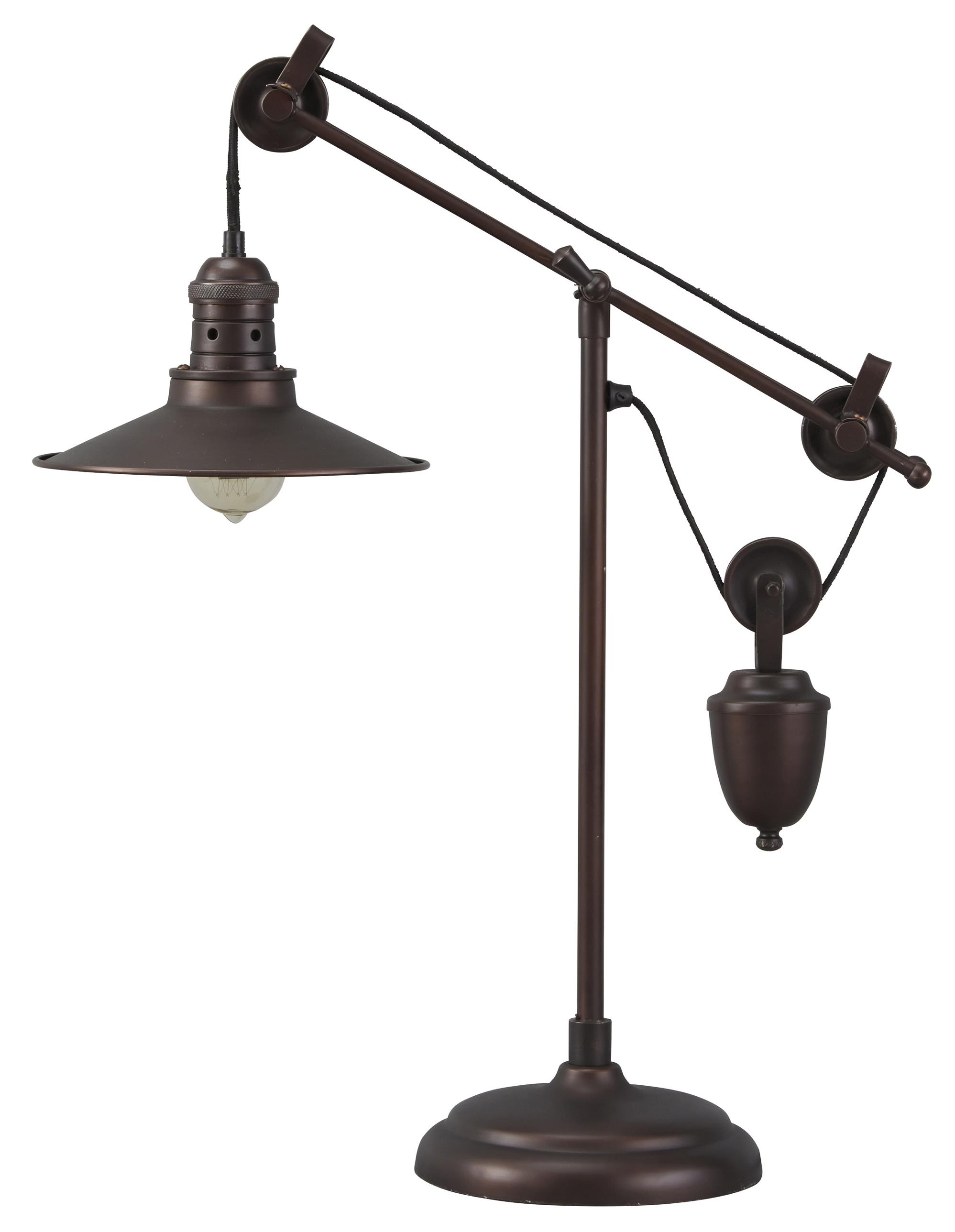 Beau Signature Design By Ashley Lamps   Vintage Style Kylen Metal Desk Lamp    Item Number: