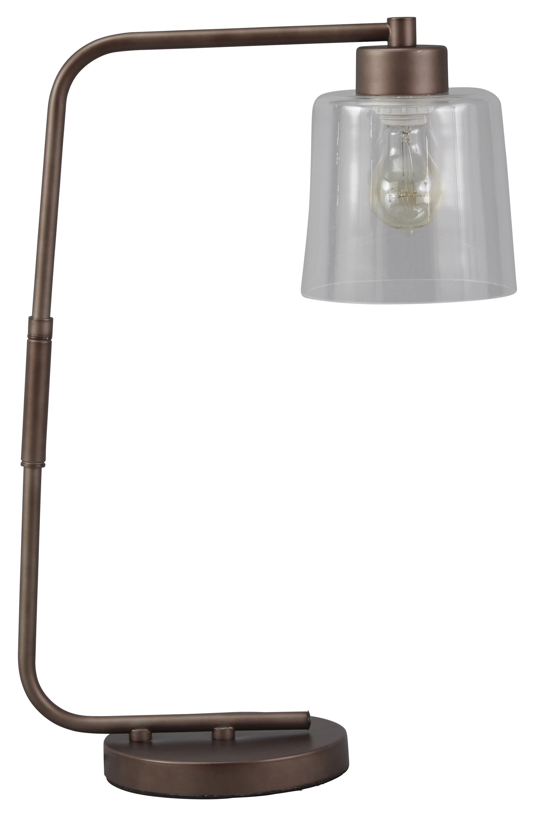 Signature Design by Ashley Lamps - Vintage Style Kyron Metal Desk Lamp - Item Number: L734162