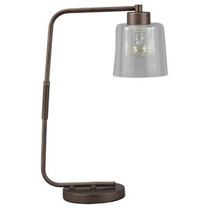 Signature Design by Ashley Lamps - Vintage Style Kyron Metal Desk Lamp
