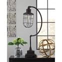 Signature Design by Ashley Lamps - Vintage Style Jae Antique Black Metal Desk Lamp