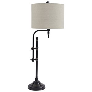 Signature Design by Ashley Lamps - Vintage Style Anemoon Black Metal Table Lamp