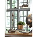 Signature Design by Ashley Lamps - Vintage Style Maaike Bronze Finish Metal Desk Lamp