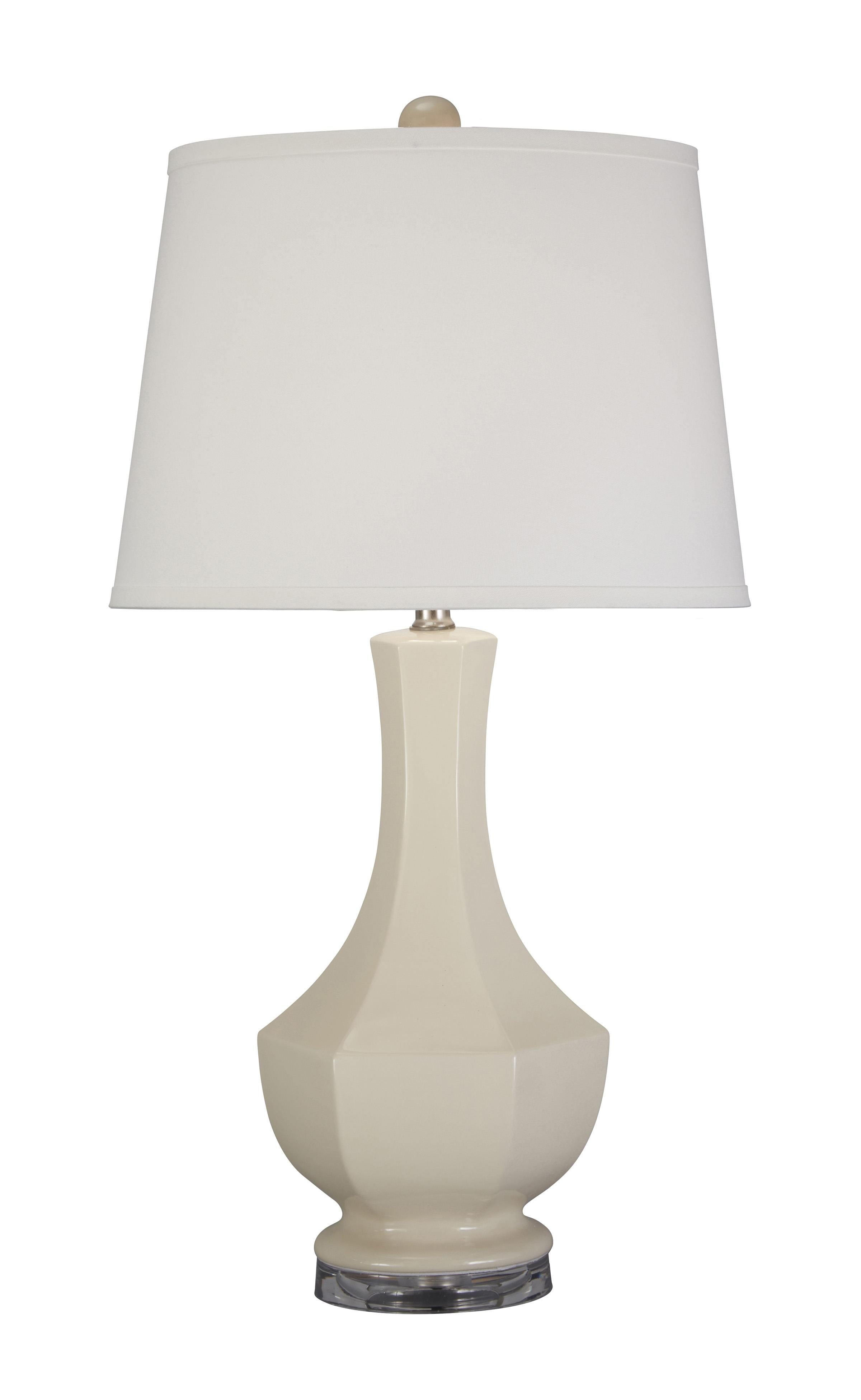 Signature Design by Ashley Lamps - Traditional Classics Suellen Cream Ceramic Table Lamp - Item Number: L100424