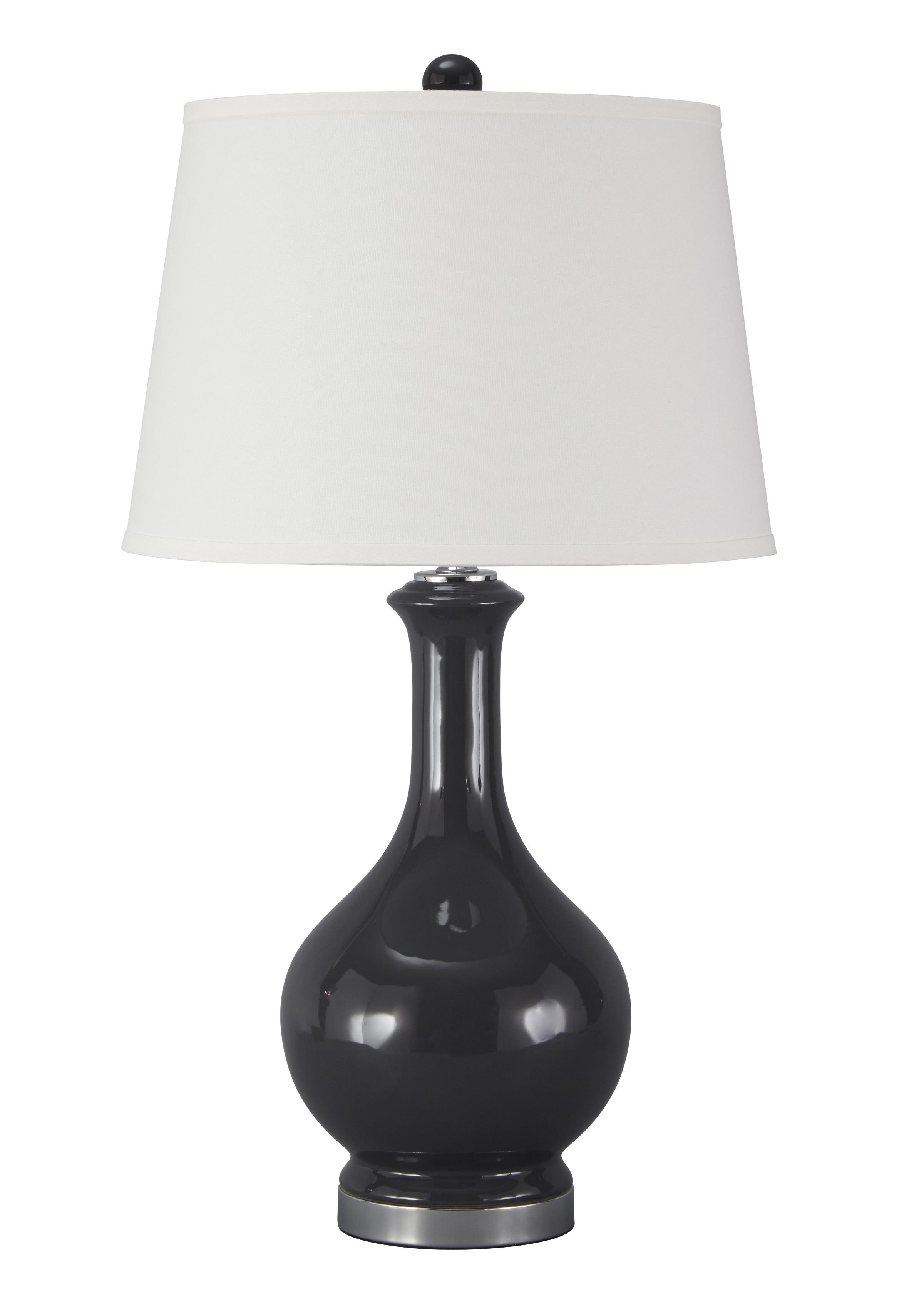 Signature Design by Ashley Lamps - Traditional Classics Shavonnia Blue Ceramic Table Lamp - Item Number: L100434