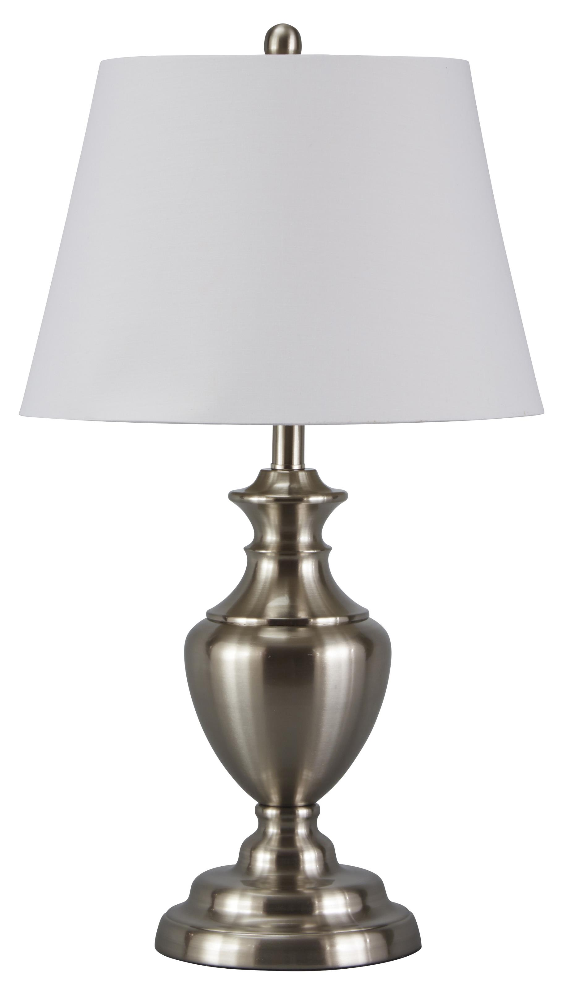 Signature Design by Ashley Lamps - Traditional Classics Set of 2 Takoda Metal Table Lamps - Item Number: L204014