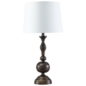 Signature Design by Ashley Lamps - Traditional Classics Set of 2 Aadi Metal Table Lamps