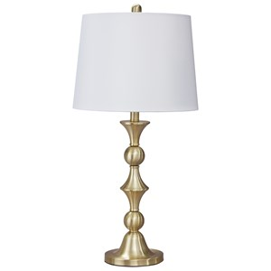 Set of 2 Genevieve Metal Table Lamps