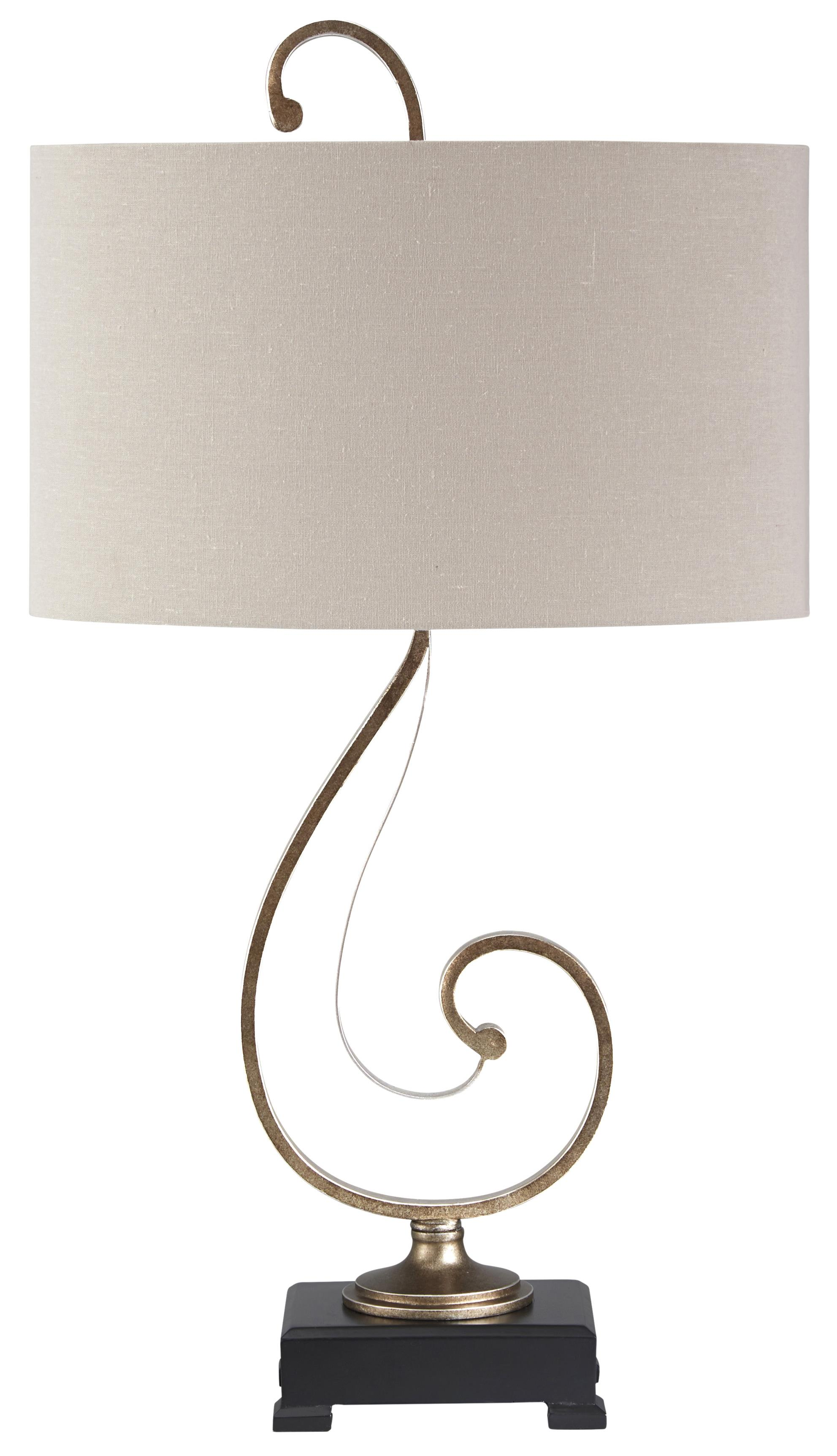 Signature Design by Ashley Lamps - Traditional Classics Tahir Metal Table Lamp - Item Number: L208014