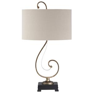 Signature Design by Ashley Lamps - Traditional Classics Tahir Metal Table Lamp