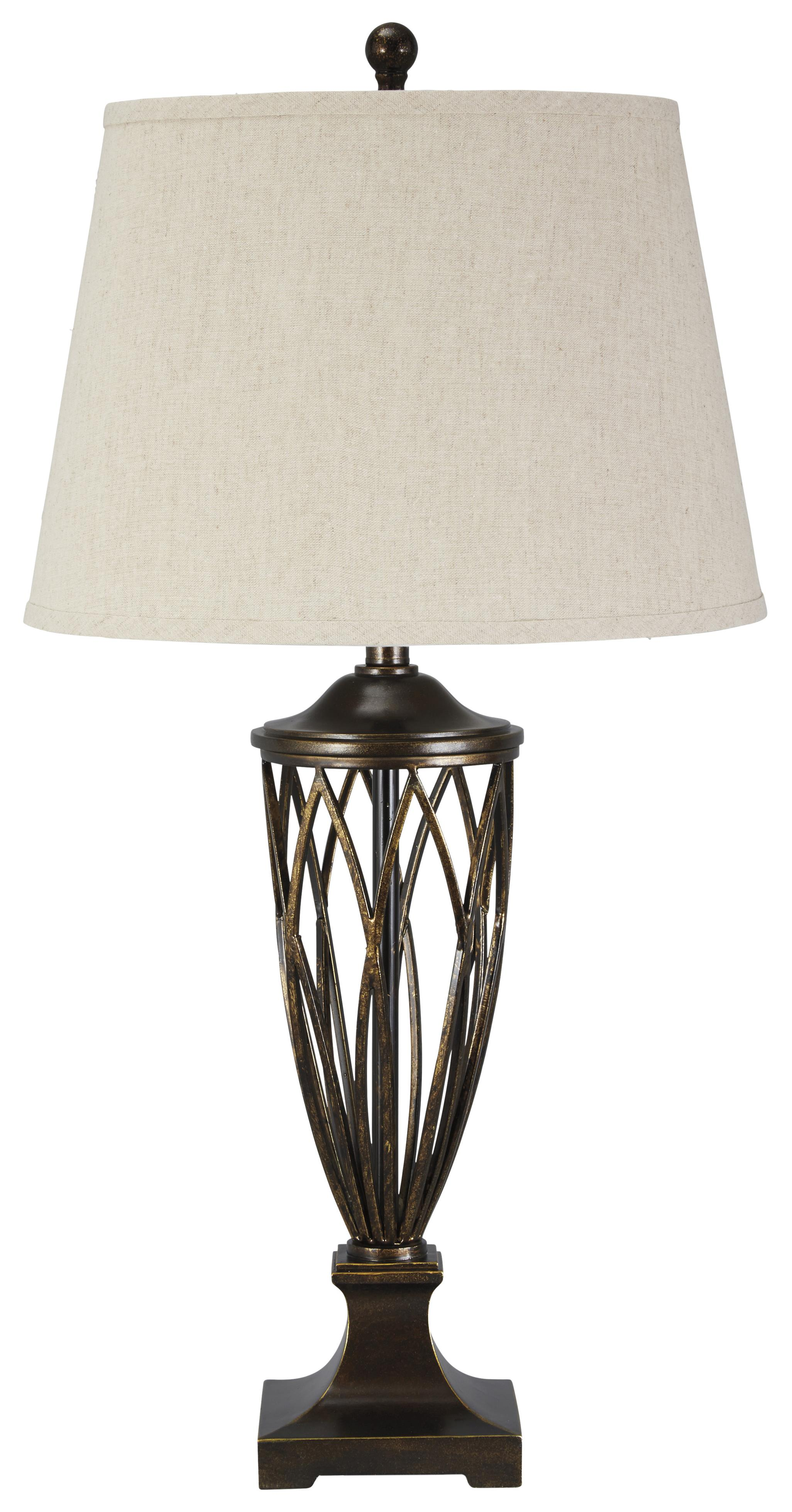 Signature Design by Ashley Lamps - Traditional Classics Makai Poly Table Lamp - Item Number: L208024