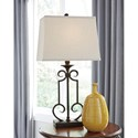 Signature Design by Ashley Lamps - Traditional Classics Set of 2 Ainslie Table Lamps