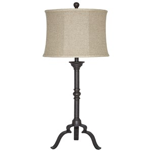Signature Design by Ashley Lamps - Traditional Classics Airlia Metal Table Lamp