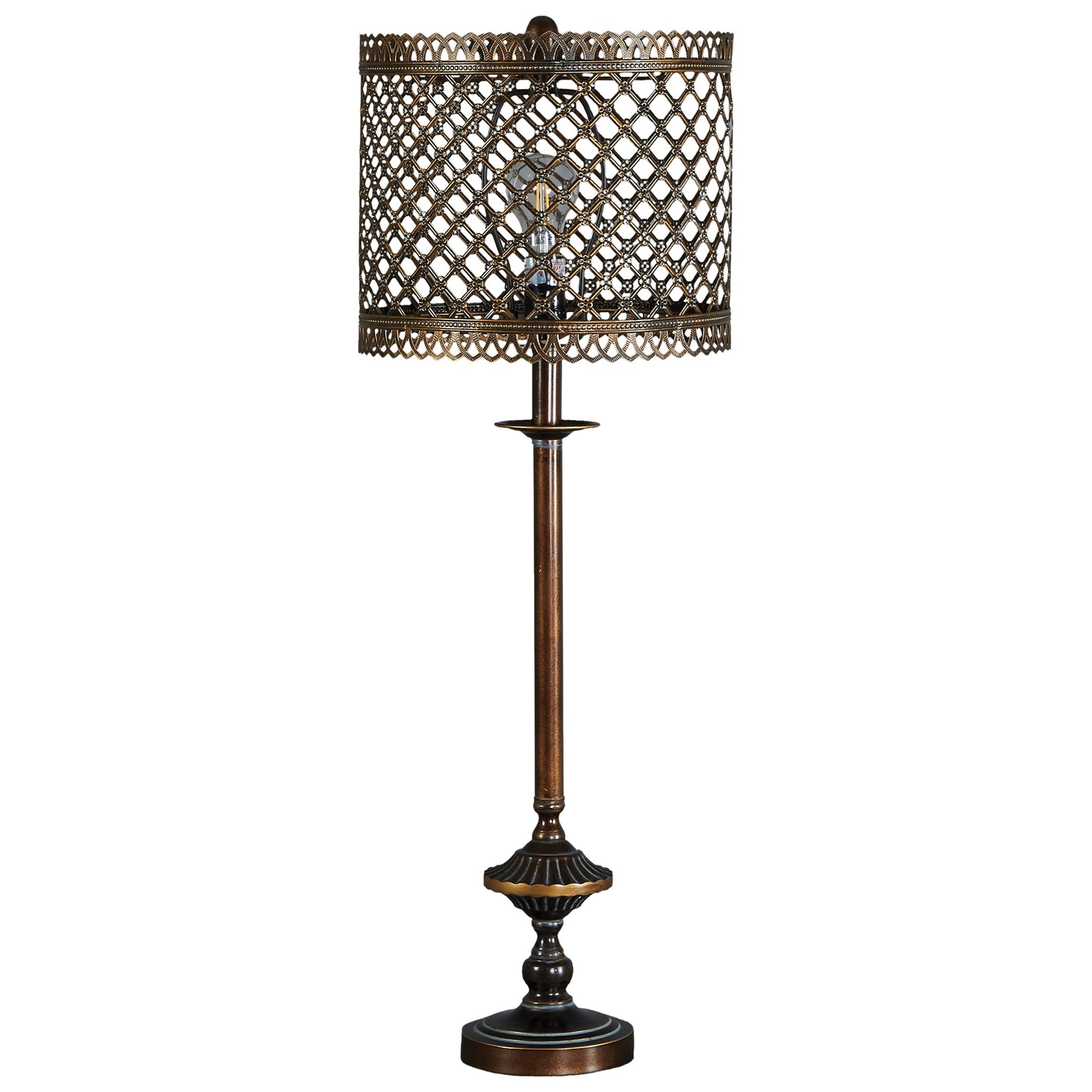 Rodolf Antique Brass Finish Metal Table Lamp